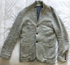 Woolrich Men's Knit Blazer, Gray USA S, EU Med