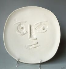PABLO PICASSO Authentic Madoura Ceramic Big-Eyed Face Ramié # 443 Edition of 100