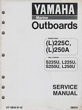 YAMAHA OUTBOARD MOTOR (L)225C,(L)250A  LIT-18616-01-42 SERVICE  MANUAL (814)
