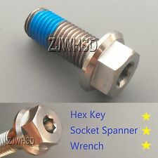 M12 x 1.5 x 30 Titanium Ti Screw Bolt Socket Cap Hexagon Hex Flange Head +Blue