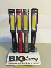 4 Pack NEBO BIG LARRY 400 LUMEN FLASHLIGHT MAGNETIC WORK LIGHT Associated Colors