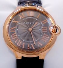 Cartier Ballon Bleu W6920089 40mm 18K Rose Gold Gray Guilloché Dial *BRAND NEW*