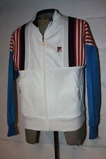 VTG FILA Red White Blue Bjorn Borg Era Full Zip Track Jacket Sz 40 NICE WOW