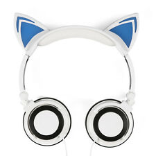 Cat Ear Headphones Gaming Headset With LED Glowing Lights For PC Mobile Phone