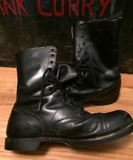 Vintage CORCORAN Military Field Combat Cap Toe Upper Leather Jump Boots. Size 13