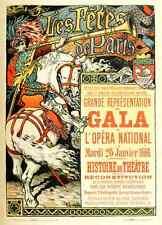 A4 photo Grasset Eugène les affiches illustrees 1886 1895 1896 gala imprimé Poster
