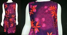 VINTAGE 80's R&K ORIGINALS HAWAIIAN PRINT SUMMER BEACH PARTY DRESS sz 12