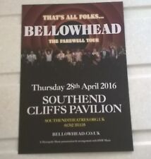 BELLOWHEAD Flyer for gig at Southend Cliffs Pavilion on 28th April 2016 (double)