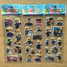 10 x FIREMAN SAM Sticker strips,Party Bag Fillers Birthday party favours, games