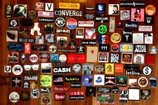 Choose Any 15 New Band Stickers For Just $25! Rock Punk Metal Indie Hip-Hop Rap