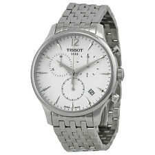 Tissot T-ClassicTradition Chronograph White Dial Stainless Steel Mens Watch
