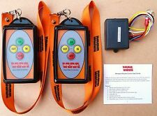 WINCH REMOTE WIRELESS TWIN HANDSET 12 VOLT or 24 VOLT ~~~BRAND NEW DESIGN~~~