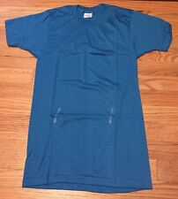 Lot 2 Vintage 70s PERMANENT PRESS Blank Blue 50/50 Paper Thin T Shirt. Sz. Small