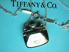 """Tiffany & Co Elsa Peretti  Sterling Silver  Square Bottle Necklace Pendant 18"""""""