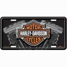 Harley Davidson Motorcycles V-Twin Metal License Plate Sign Tag