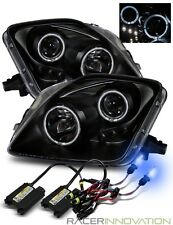 10000K Xenon HID/For 97-01 Honda Prelude Halo Projector Headlights Black
