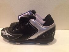 NEW REEBOK AUTHENTIC COLLECTION Baseball CLEATS BLACK SILVER Sz 11