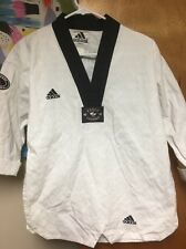 Adidas Taekwondo Top Shirt Size 1 150 cm Made in Korea Choe's WTF ITF USTU