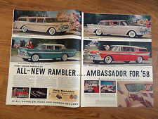 1958 Rambler 6 Rebel Ambassador Custom Cross Country Wagon Ad