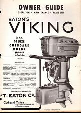 1956? EATON'S VIKING OUTBOARD 25 HP MODEL 22D14V OWNERS PARTS MANUAL P/N 402421