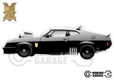 Mad Max Black Interceptor movie car  - XX Large Sticker Set- 4 Large Stickers