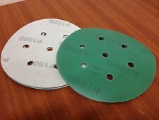 "P1500 velcro abrasive discs   150mm 7 hole  Pack (15)    6"" Sanding Film Pads"