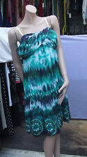 Joseph Ribkoff 18 BNWT Gorgeous Sheer Green Batique Style Strapless Dress US 16