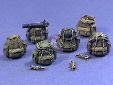 """Resicast 1/35 UK """"Bergen"""" Rucksacks for Figures (6 different Rucksacks) 355661"""
