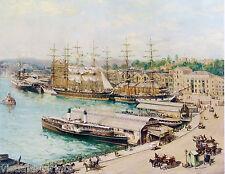 John Allcot, Circular Quay in the 1890s, Sailing Ships.