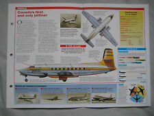 Aircraft of the World Card 68 , Group 2 - Avro Canada C-102 Jetliner