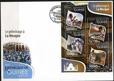 GUINEA 2015 PILGRIMMAGE TO MECCA  SHEET FIRST DAY COVER