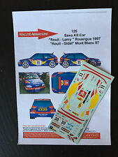 DECALS 1/43 CITROEN SAXO KIT CAR ROUIT N°30 RALLYE DU MONT BLANC 1997 RALLY WRC