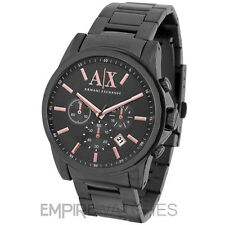 *NEW* MENS ARMANI EXCHANGE BANKS ROSE GOLD WATCH - AX2086 - RRP £195.00