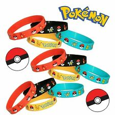 4pcs Bangle regalo del braccialetto Pokemon Go Wristband del silicone New LCF