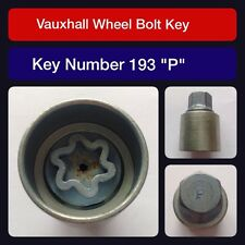 "Genuine Vauxhall Locking Wheel Bolt / Nut Key 193 ""P"""