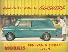 Morris Mini Mk1 Van & Pick-Up 1960-61 UK Market Sales Brochure