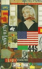 RARE / CARTE TELEPHONIQUE - MARILYN MONROE / POP ART / PHONECARD