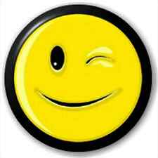 Smiley Wink 25Mm Pin Button Badge Lapel Pin Text Emoticon