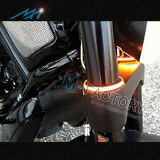 Amber LED Turn Signals Light For Fork Fit Yamaha XV 1700 Road Star Warrior 06-14