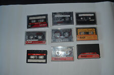 RETRO/OLD JOB LOT OF 9 USED BASF MUSIC CASSETTE/TAPES 0.99P START BARGAIN