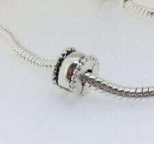 JS387 C14 Silver clip stopper charms bead Fit European Bracelet Chain