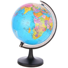 """Funny Rotating 3.5"""" Round World Globe Inflate Ball Kid Geography Euduation Toy"""