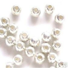 200 pieces 4mm Silver Plated Spacer Beads - A6720