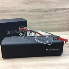 Tag Heuer TH 7621 TH7621 Eyeglasses Gunmetal Matte Red 010 Authentic 53mm