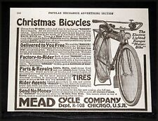 "1917 OLD MAGAZINE PRINT AD, MEAD BICYCLES, ELECTRIC LIGHTED ""RANGER"" MOTOR BIKE!"