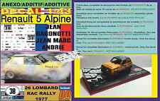 ANEXO DECAL 1/43 RENAULT 5 ALPINE JEAN RAGNOTTI RAC RALLY 1977 (02)