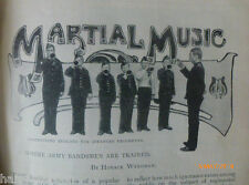 Military Music Army Band Kneller Hall Bugler Old Victorian Photo Article 1900