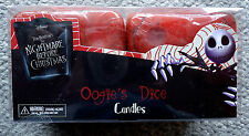 THE NIGHTMARE BEFORE CHRISTMAS OOGIE'S DICE CANDLES NEW OOGIE BOOGIE DISNEY