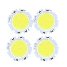 4x 3W Round COB Super Bright LED Chip Light Lamp Bulb Pure White DC9-12V