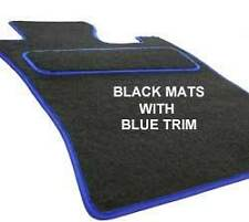 MGF MGTF Custom Fitted Tailored Car Floor Mats black with a BLUE trim